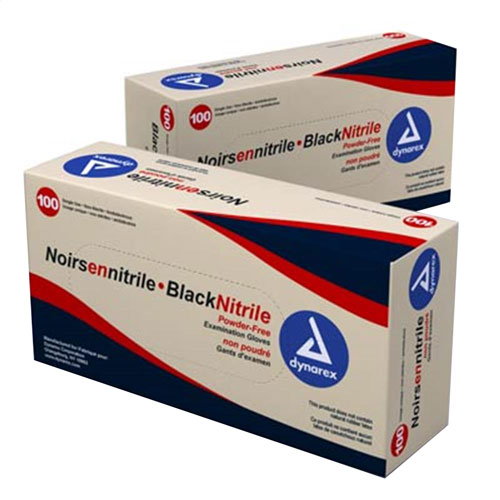 SafeTouch PF Black Nitrile Gloves