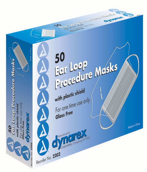 Pleated Masks with Earloops & Plastic Shield