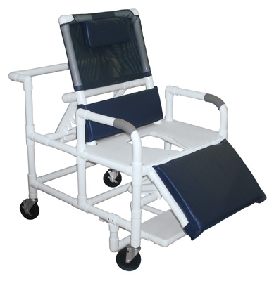 reclining pvc shower chair bariatric 600 lbs