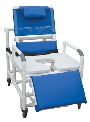reclining pvc shower chair bariatric 700 lbs