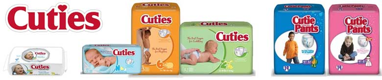 Cuties Baby Diapers, Wipes and Training Pants