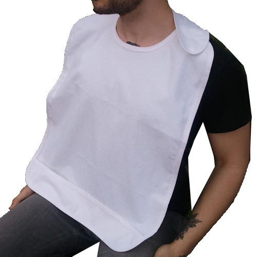 Dignity Terry Cloth Bibs White