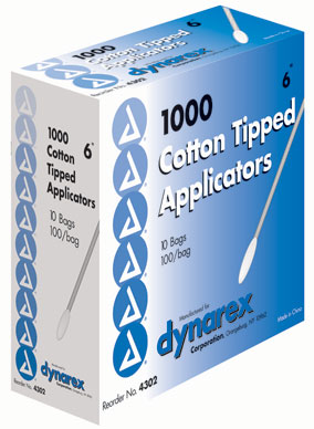 "Cotton Tipped Applicators 6"" Non-Sterile"